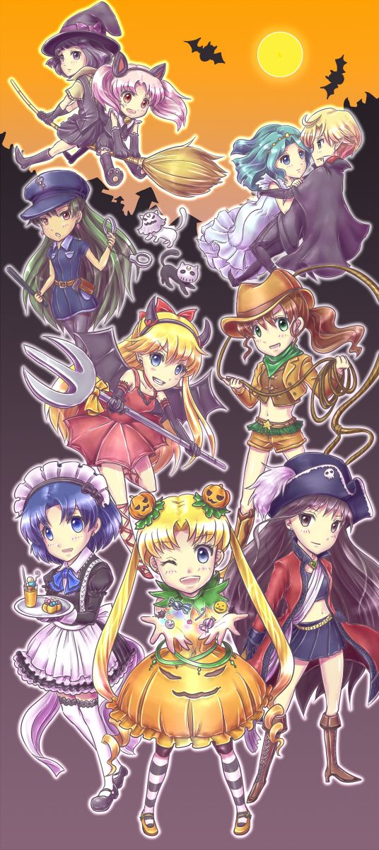 Sailor Moon Halloween by カヅキナ on pixiv