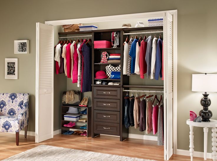 closetmaid 25 in impressions chocolate closet kit 30861 at the home depot mobile - Closetmaid Design Ideas