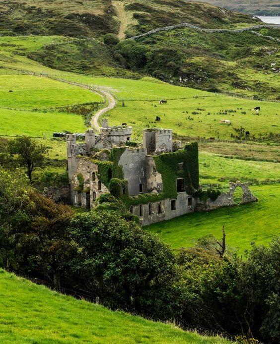 Clifden Castle . Ireland: