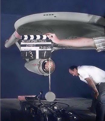 Filming the original Enterprise model