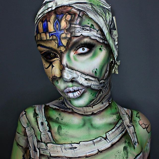 Did some-mummy return? @ellie35x came to life for the #SigmaxMuradHalloween Makeup Challenge!