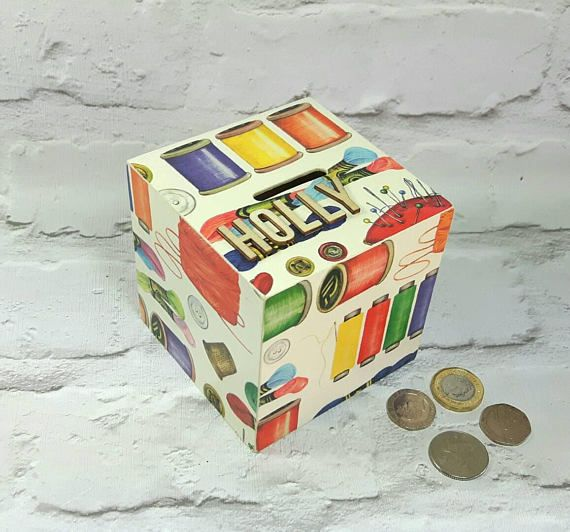 Hey, I found this really awesome Etsy listing at https://www.etsy.com/uk/listing/266698091/personalised-sewing-money-box-sewing-box