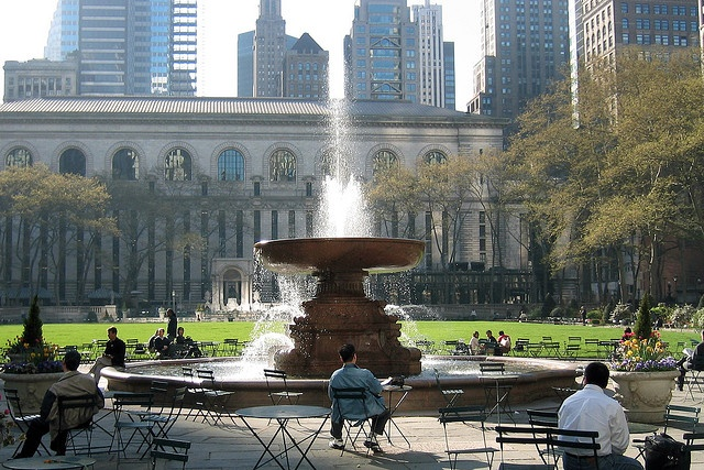 Bryant Park...Lunch breaks during gorgeous weather, Monday night movies on the lawn, holiday bazaars, beers with friends, the Carousel w/ my daughter. NY Public Library...smelling the books, the quiet in NYC, having that library card, showing my daughter one of the oldest and largest Libraries..PRICELESS.