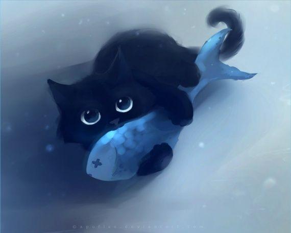 """Résultat de recherche d'images pour """"chat bleu manga"""""""