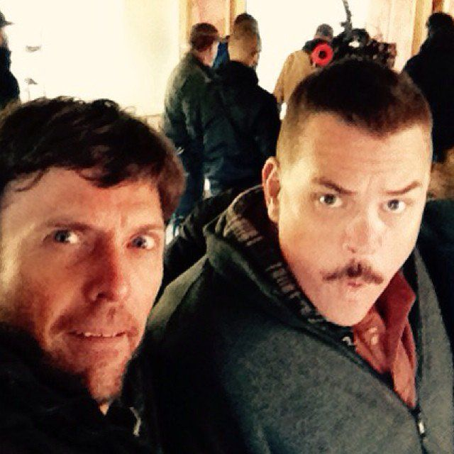 Pin for Later: Super Troopers 2 Has Begun Filming! See the Goofy Pictures  Erik Stolhanske (aka Rabbit) and Kevin Heffernan (aka Farva) took a selfie.