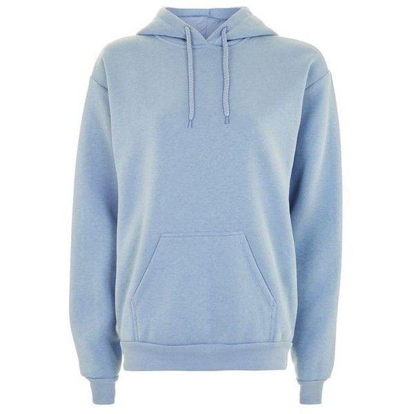 Topshop Tall Oversized Hoodie ($32) ❤ liked on Polyvore featuring tops, hoodies, blue hoodie, hooded top, blue hooded sweatshirt, oversized hoodies and layered hoodie