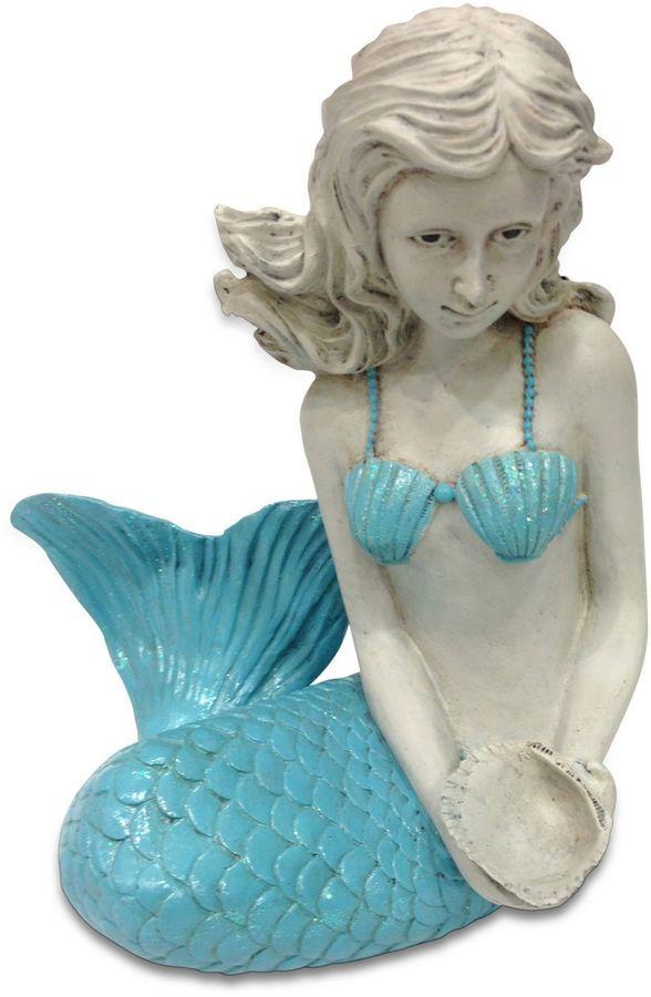 Girls Beach Bedroom -  Danya B. Mermaid Figurine in Blue (affiliate link)