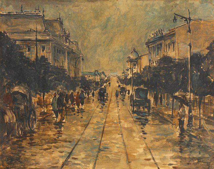Elisabeth Avenue after the Rain - Nicolae Darascu (Romanian). Eva's blog