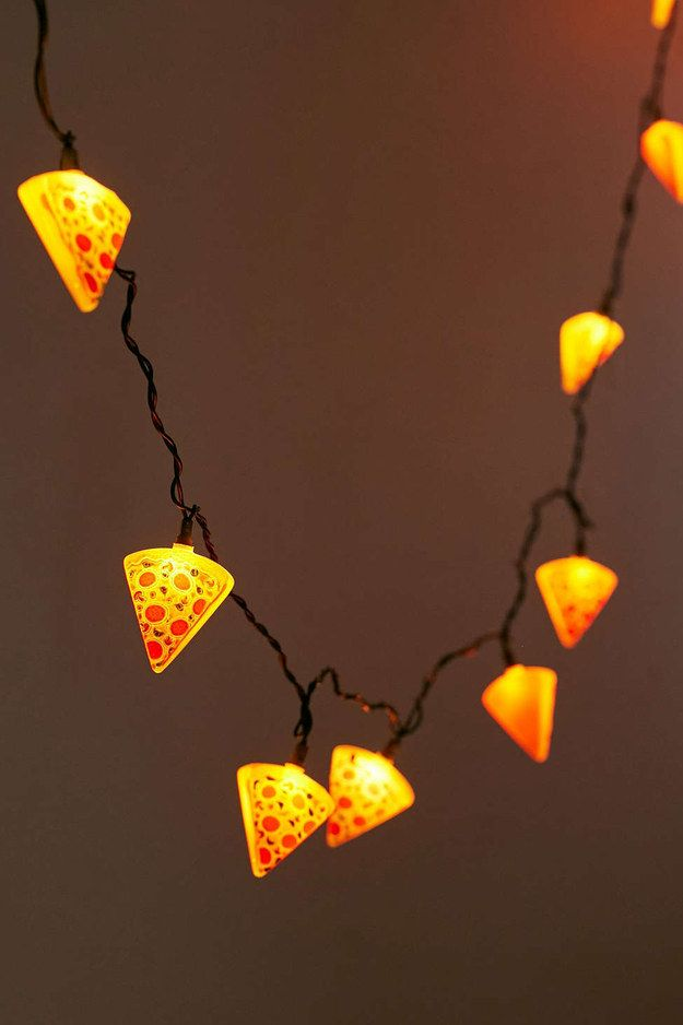 And some glowing slices. | 27 Products For People Who Are Completely Obsessed With Pizza