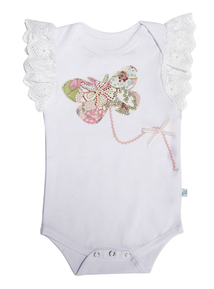 Alex and Ant Liberty Butterfly Onsie Size 0 - 3mth  3 - 6mth  6 - 9mth