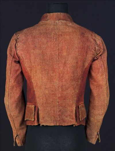The jacket known as the Carmagnole is said to have been worn during the French Revolution by the Sans-culottes, workers, tradesmen and a few members of the Convention. The name is taken from La Carmagnole, a Revolutionary song and dance that originated in the Marseille region. The song was composed in 1792, probably after the taking of the Tuileries palace on 10 August. Espoused by the Sans-culottes, the song, the dance and the jacket are  all associated with the radical working-class…
