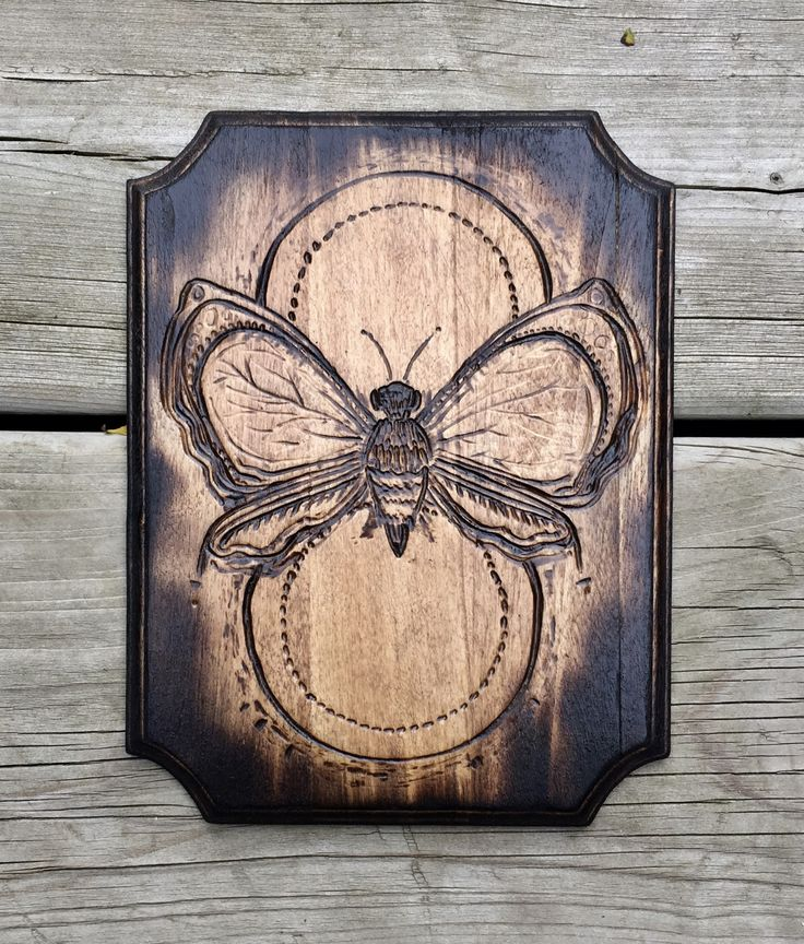 Wood burned butterfly plaque  #woodsign #woodburning #handmade #butterfly