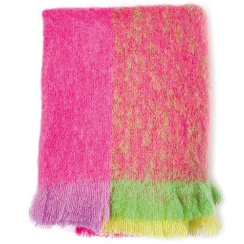 matinee pink mohair throw by avoca