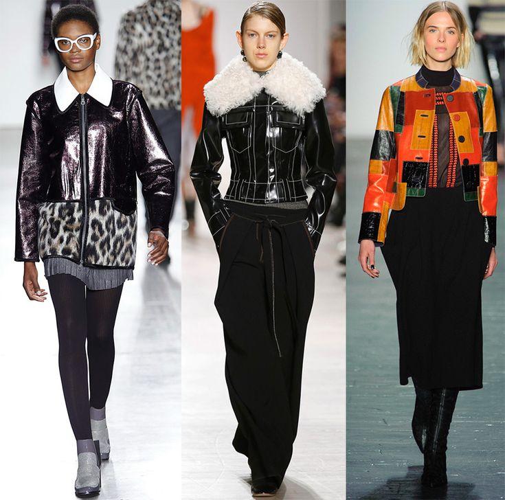 Модные кожаные куртки 2016-2017