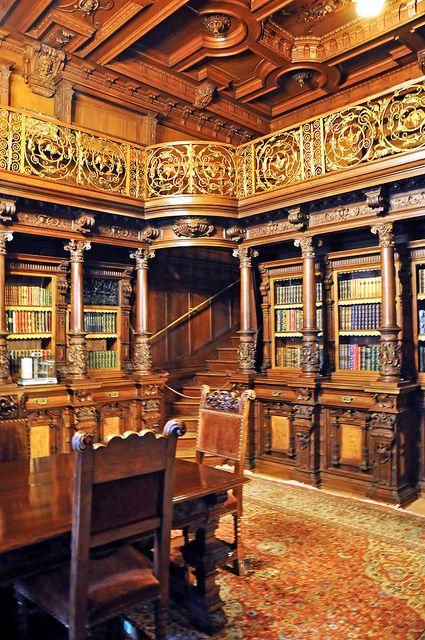 Library, Peles Castle, Sinaia, Romania