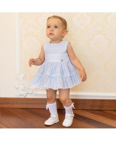 76e9a2f03d Jesusito para bebé niña desde 12 meses hasta 24 meses. Es azul clarito con  rayas y detalles de puntillas en blanco. Un color muy …