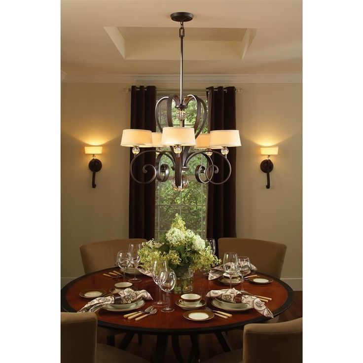 Madison Manor 5 Light Chandelier Western Bronze By The USAs Quoizel Lighting