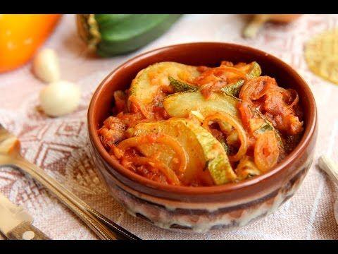 Любимые Рецепты. Кабачки в томатно-луковом соусе. Вкусны как в горячем, ...