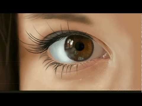 How To Paint A Realistic Eye In Photoshop**This is not the eye in the photo, but is an extraordinary eye none the less!