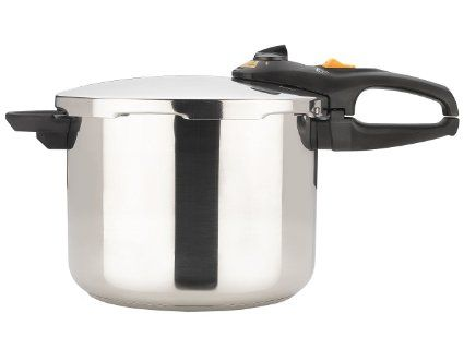 Fagor Duo 8-Quart Stainless-Steel Pressure Cooker with Steamer Basket - try to get one made in Spain, not China - some complaints with the ones made in China.