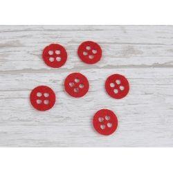 Guziki 1,5cm x 1,5cm Czerwone F30 buttons