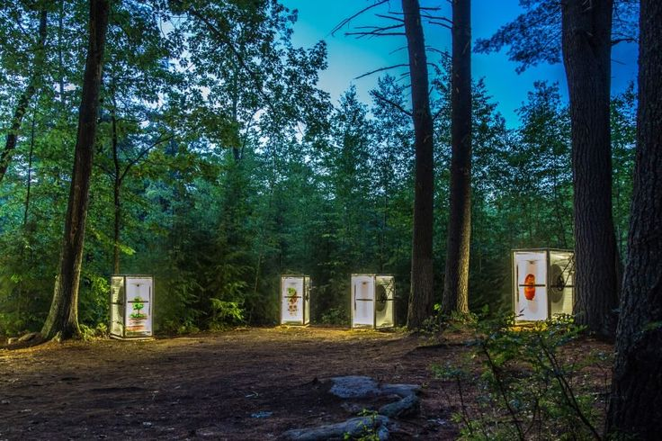 Hidden away in the forests of the camp, these machines encouraged students at a US Summer camp to explore the surrounding wilderness while also acting as creative stimuli.