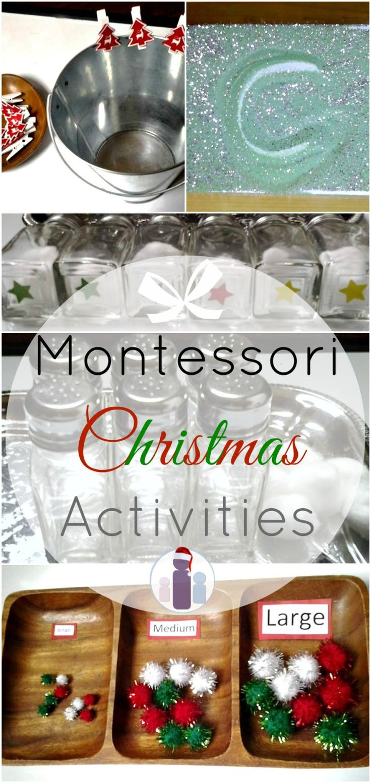Montessori Christmas Activities. Great ideas for toddles and preschoolers that are both educational and fun!