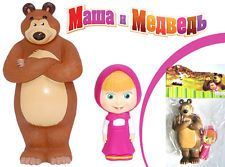 SALE! 2 funny Rubber Toys Masha and the Bear Маша и медведь from Russia