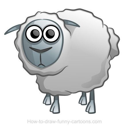Learn how to draw a funny cartoon sheep in today's advanced drawing lesson. :)