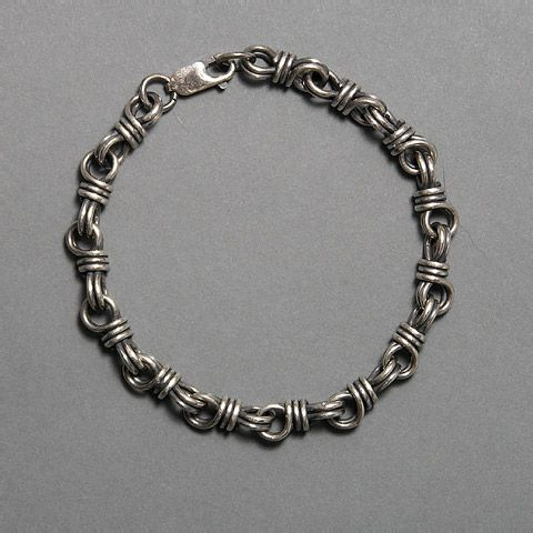 Great, substantial design that would be great for men in heavy gauge!/ Not just for men. This is perfect when combined with other bracelets.