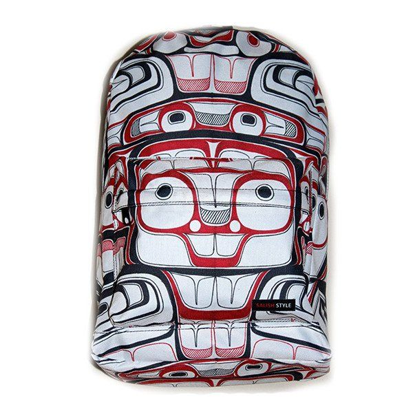 Raven's Light backpack makes it easy to carry all your must-have essentials in Northwest Coast style by Morgan Asoyuf (née Green), Tsimshian
