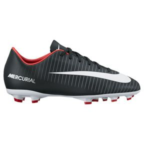 Nike Youth Mercurial Victory  VI FG Soccer Shoes (Black/White): http://www.soccerevolution.com/store/products/NIK_10919_F.php
