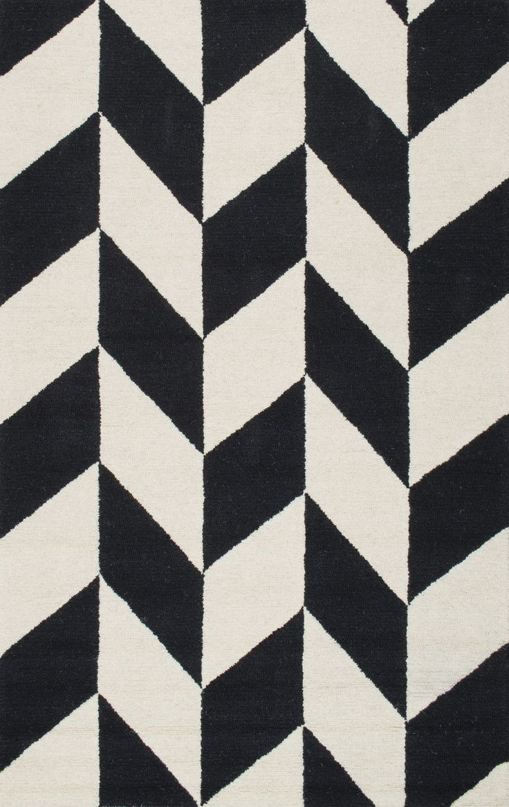 Hand Tufted Black and White Katte Area Rug I LOVE THIS RUG