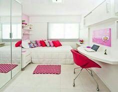 Decoração para quarto pequeno de jovens meninas