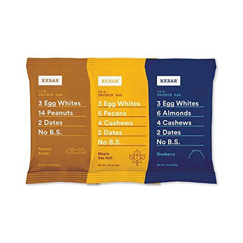RXBAR Whole Food Protein Bar 3 Flavor Variety Pack 8 Bars ** Read more reviews of the product by visiting the link on the image.Note:It is affiliate link to Amazon. #like4like
