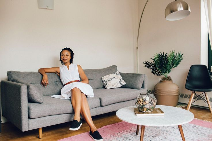 """I moved from Brooklyn to Harlem and had to furnish my own apartment for the first time. It's still a work in progress, but so far it's a reflection of me and my style.""—Mbali in Harlem, saving gallery walls and pet-friendly houseplants on Pinterest"
