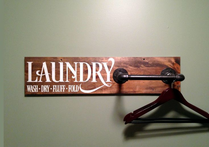 "Laundry Farmhouse Style Clothing Rack with Inductrial Pipe Sign 7.25""x30"". Laundry Organization, Rustic Clothing Rack, Pipe Clothing Rack by 1888rusticfarmhouse on Etsy https://www.etsy.com/listing/537081870/laundry-farmhouse-style-clothing-rack"