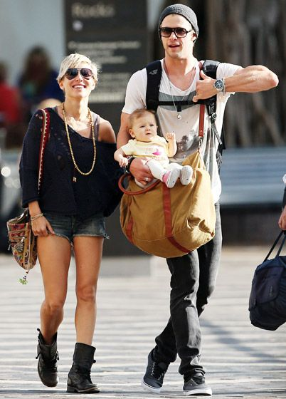 Chris Hemsworth with his wife Elsa Pataky, and their daughter India.