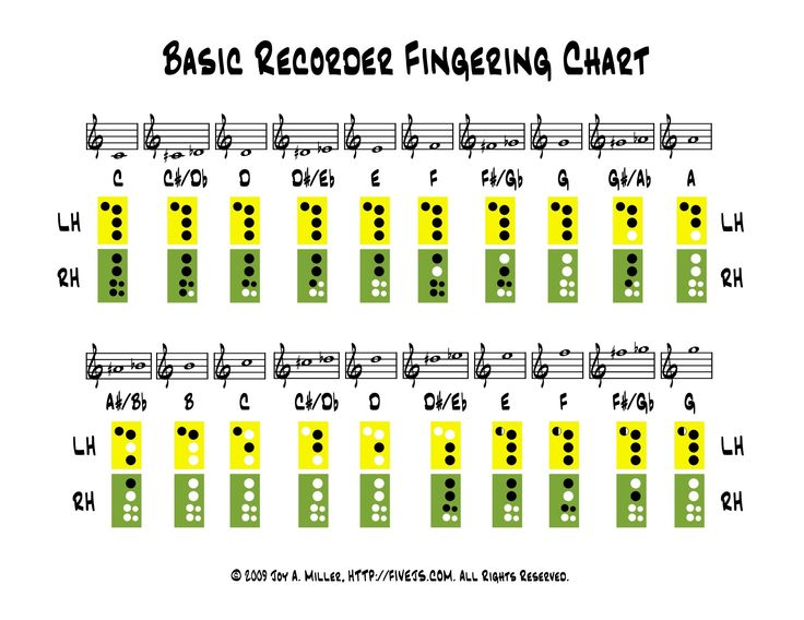 Suggestions Online | Images Of Recorder Karate Fingering Chart