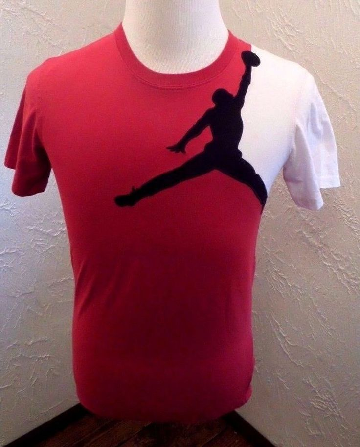 YOUTH  RETRO 1 NIKE AIR JORDAN JUMPMAN T SHIRT RED SZ LARGE 16/18  #NikeAirJordan #Everyday