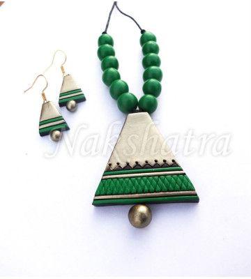 Terracota, Jewellery, Handmade, Neck Piece. Terracotta JewelleryQuilling IdeasJewellery  DesignsClay ...