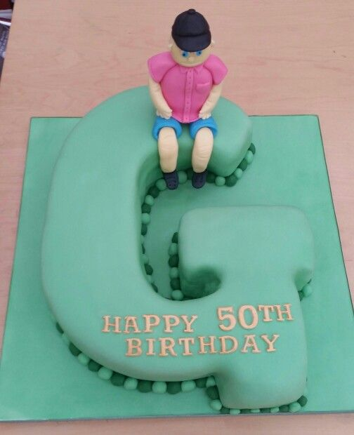 Letter G 50th Birthday Cake