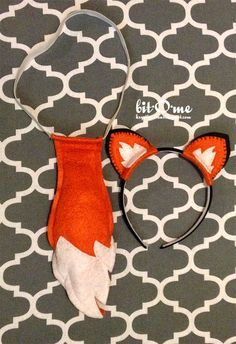 Felt Fox Tail and Ears {Free Pattern}                                                                                                                                                                                 More