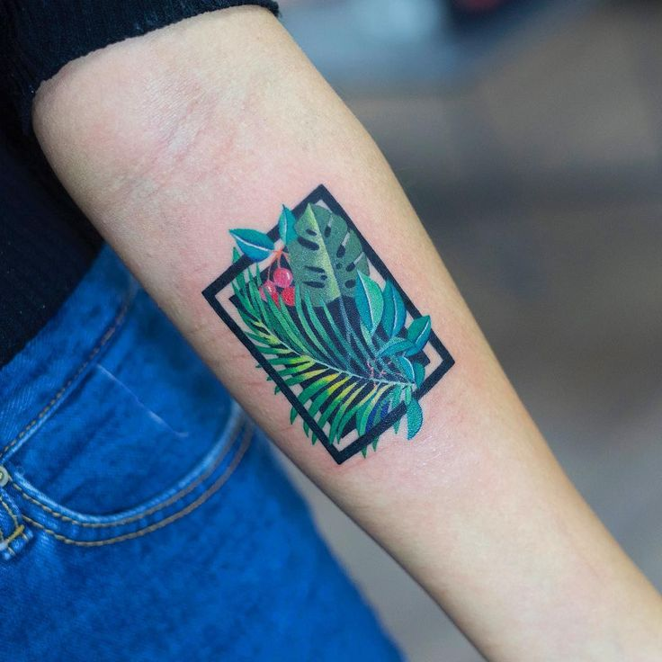 "9,285 Likes, 78 Comments - Zihee_tattoo (@zihee_tattoo) on Instagram: ""TROPICAL"""