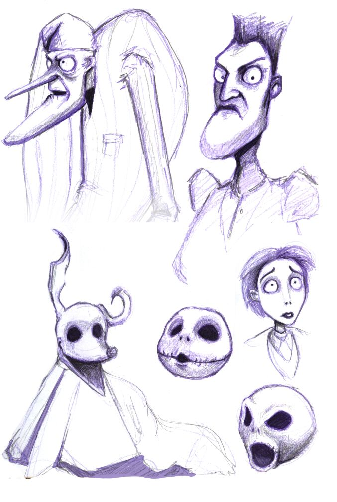 Tim Burton Sketches