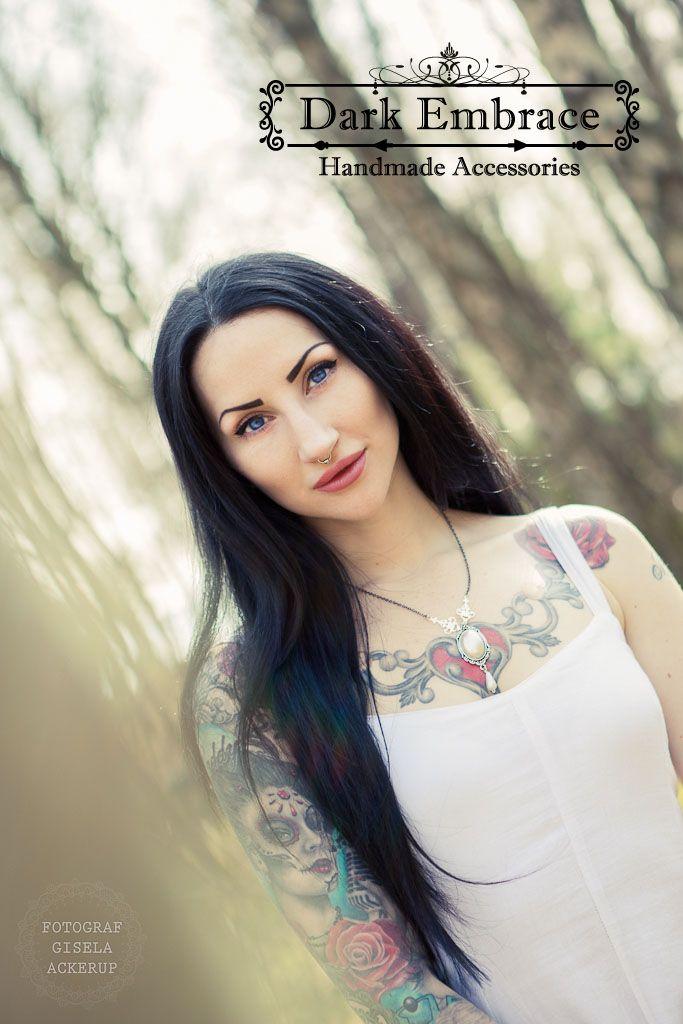 Model: Eleine /  Photographer: Fotograf Gisela Ackerup /  Necklace: Dark Embrace Handmade Accessories - https://www.facebook.com/darkembraceaccessories / Shop: www.darkembrace.gr / #gothic  #alternative  #dark  #victorian #girl #jewelry #goth #accessories #necklace #gothgirl #gothicgirl #victoriangirl