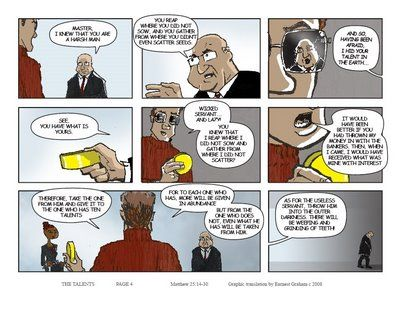 The Parable the 10 Talents PG 4 | BIBLICAL COMICS NOSTAGIA ...