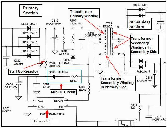 switched mode power supply circuit diagram