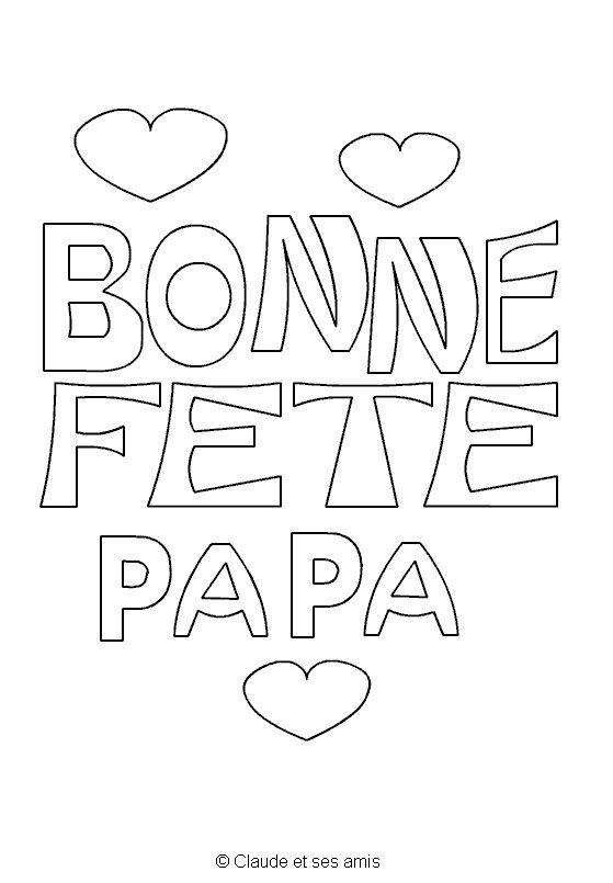 Les 35 meilleures images du tableau bonne f te papa dessins imprimer sur pinterest - Dessin fetes des peres ...