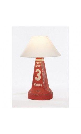 LAMPE BOUÉE STYL MARIN ROUGE 3